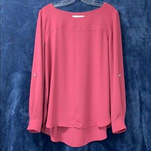 LOFT Muted Pink Blouse